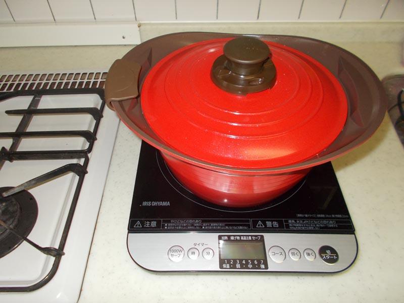 久しぶりの我が家でのお料理 IHクッキングコンロを使うことに